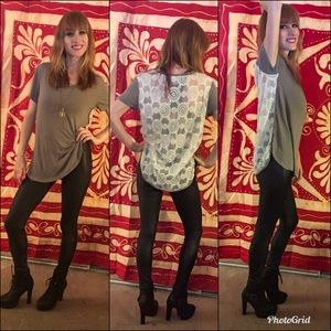 Tops - Blouse with lace back